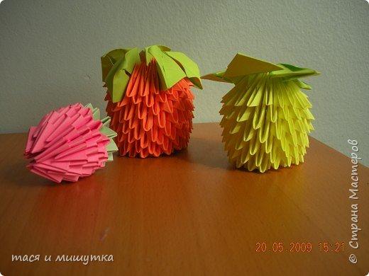 Оригами модульное: Фрукты