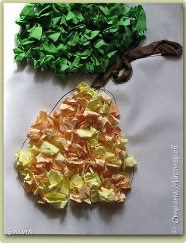 Аппликация: Инжир и веточка оливок. фото 1