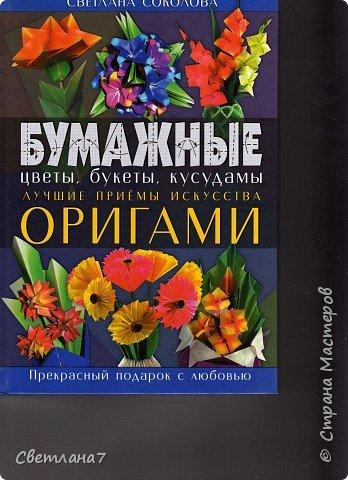 Оригами: Ваза с розами фото 2