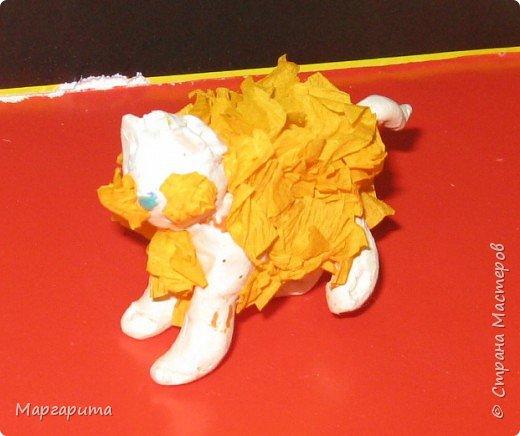 Торцевание на пластилине: Пушистики  фото 6