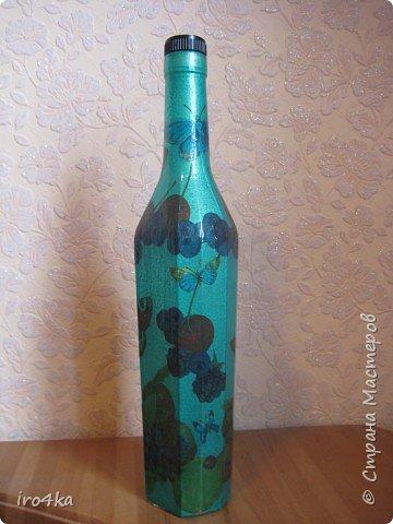 Декупаж: Бутылочка  фото 1