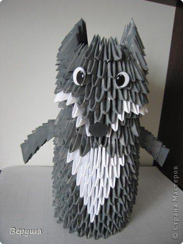 Оригами модульное: Волк