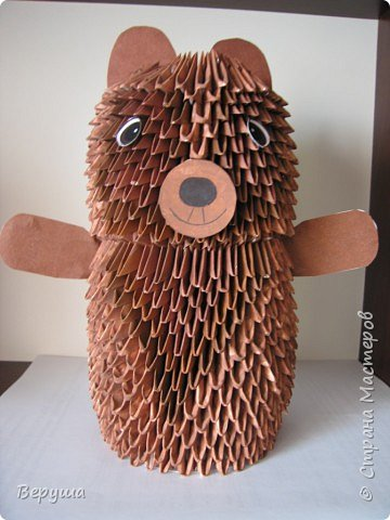 Оригами модульное: Медведь