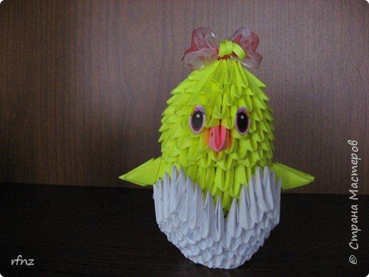 Оригами модульное: цыплятки фото 2