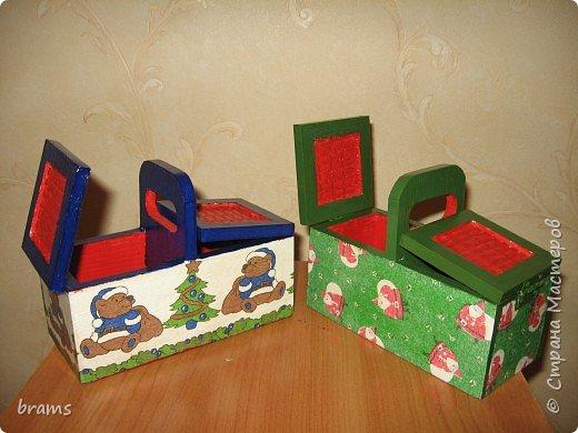 Декупаж: Новогодние коробочки