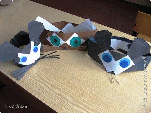 Оригами: Маски - шапочки к спектаклю фото 1