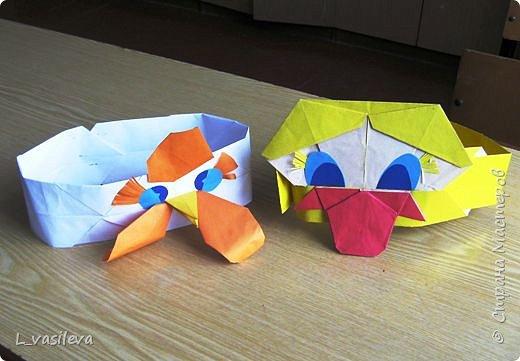 Оригами: Маски - шапочки к спектаклю фото 3