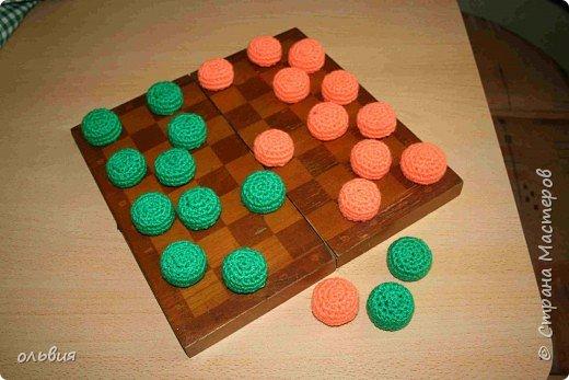 Вязание крючком: цветные шашки