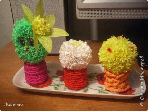 Торцевание на пластилине: Цветочки в горшочках