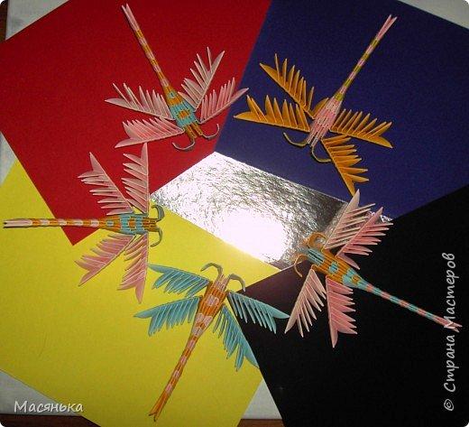 Оригами модульное: Лебедь и стрекозы фото 4