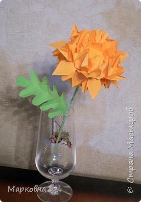 Оригами модульное: Моя хризантема