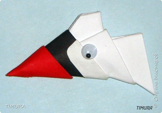 Оригами модульное: Пара лебедей и как сделать клюв. фото 5