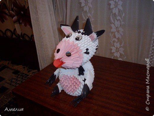 Оригами модульное: корова фото 1