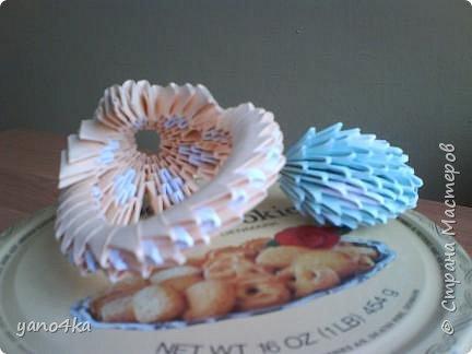 Оригами модульное: пасхальная корзинка фото 2