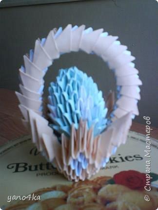 Оригами модульное: пасхальная корзинка фото 1