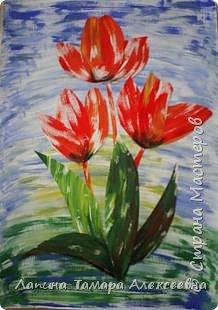 Аппликация: Тюльпаны  фото 3