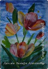Аппликация: Тюльпаны  фото 2