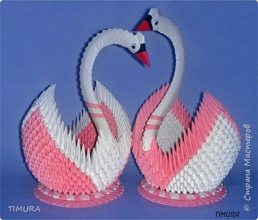 Оригами модульное: Пара лебедей и как сделать клюв. фото 1