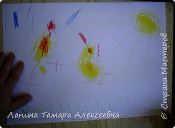 Викуля нарисовала цыпленка и утенка. А где кто догадайтесь сами. фото 8