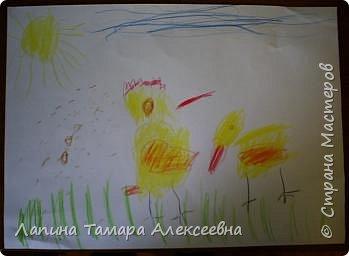 Викуля нарисовала цыпленка и утенка. А где кто догадайтесь сами. фото 7