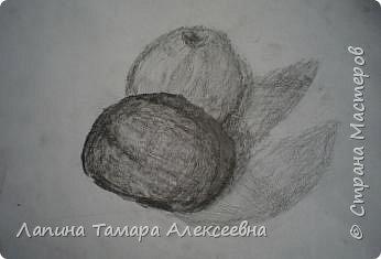 """Натюрморт """"Яблоко и помидор"""" фото 2"""