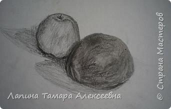 """Натюрморт """"Яблоко и помидор"""" фото 3"""