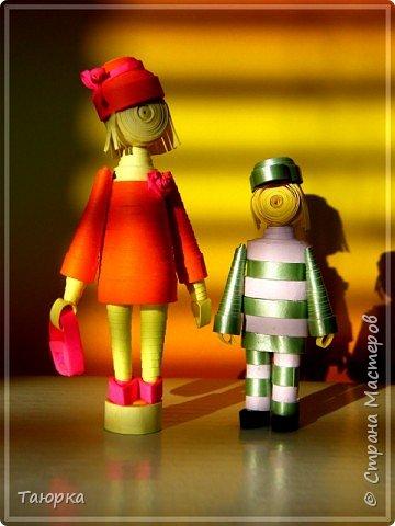 Куклы Квиллинг мамочка и сын Бумага