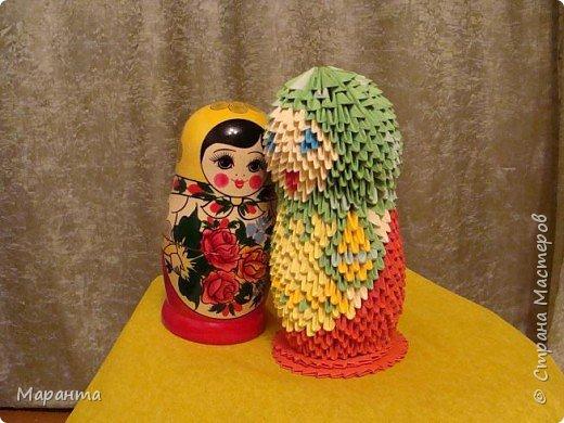 Оригами модульное: Русская красавица
