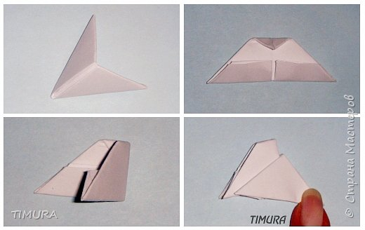 Оригами модульное: Пара лебедей и как сделать клюв. фото 3