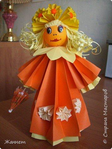 Оригами модульное: Моя куколка!