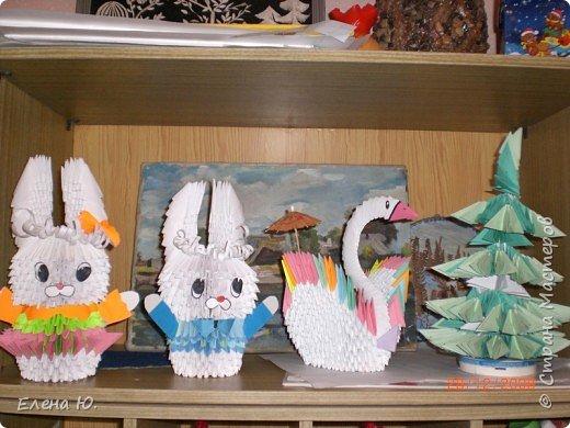 Оригами модульное: В гостях у ёлочки