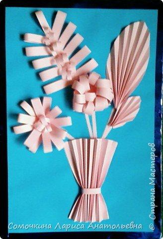 Бумагопластика: Панно «Цветы»