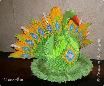 Оригами модульное: Мой павушка