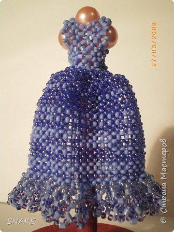 Бисероплетение: Миниатюрное платье фото 1
