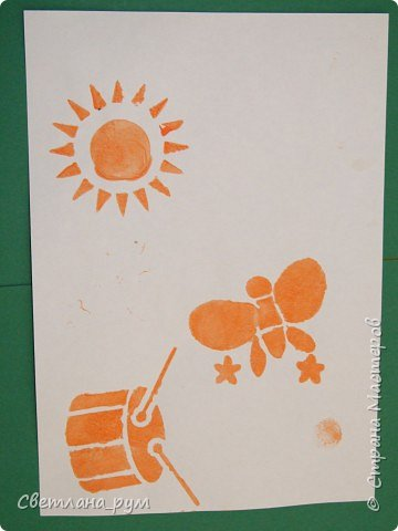 Печать губкой: Трафаретная роспись фото 2