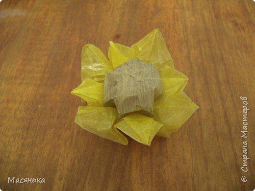 Оригами: Подсолнух