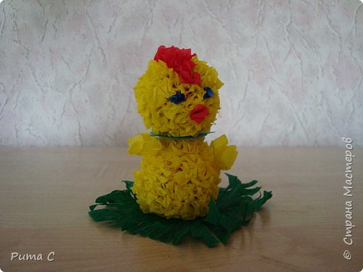 Торцевание на пластилине: Цыпленок фото 2
