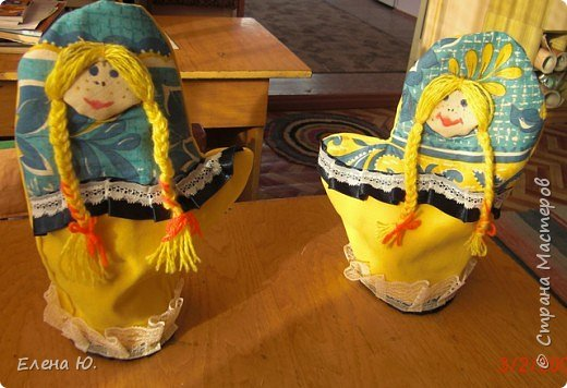 Игрушка мягкая: куклы на чайник фото 2