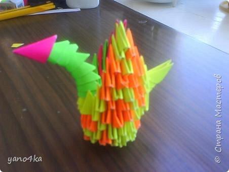Оригами модульное: психоделический лебедь