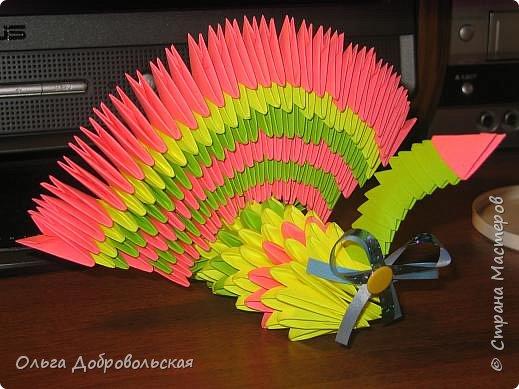 Оригами модульное: Птица 3