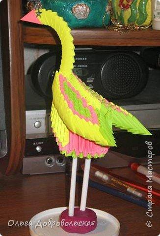 Оригами модульное: Птица 2 фото 2