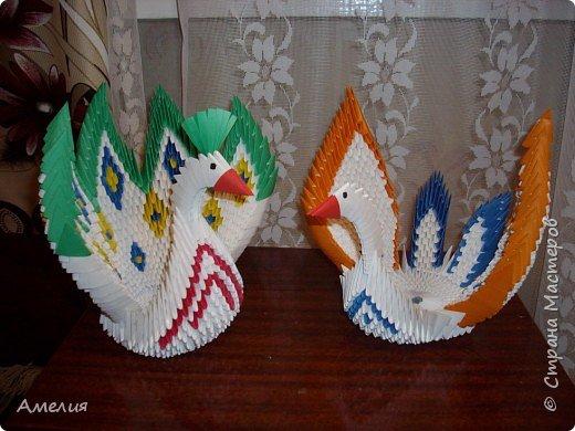 Оригами модульное: птицы фото 1