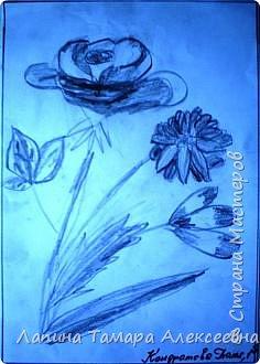 Цветы простым карандашом фото 3