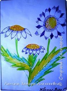 Цветы фломастерами  фото 1