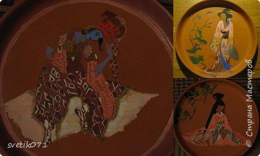 Роспись: По мотивам японской сказки и индийский божок