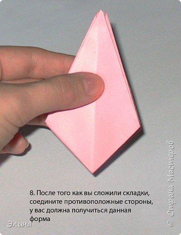 """Оригами: Мастер класс """"Как сделать розу"""". фото 6"""