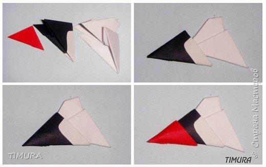 Оригами модульное: Пара лебедей и как сделать клюв. фото 4