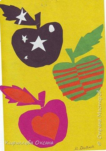 Аппликация: Яблочки фото 1