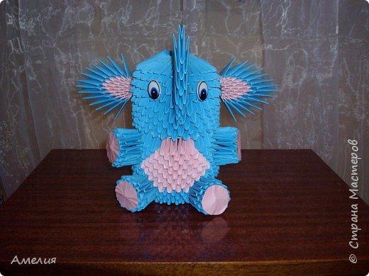 Оригами модульное: Слоник фото 2