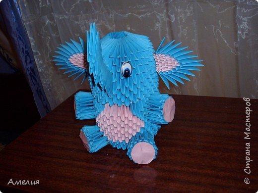 Оригами модульное: Слоник фото 1